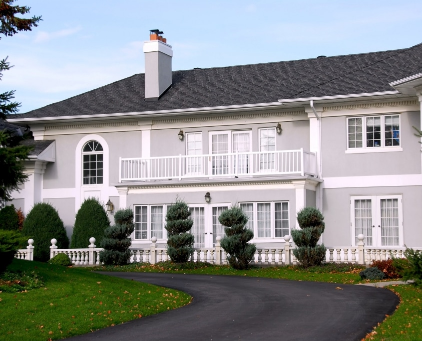Beautiful mansion in grey and white color vancouver asbestos and hazardous material removal