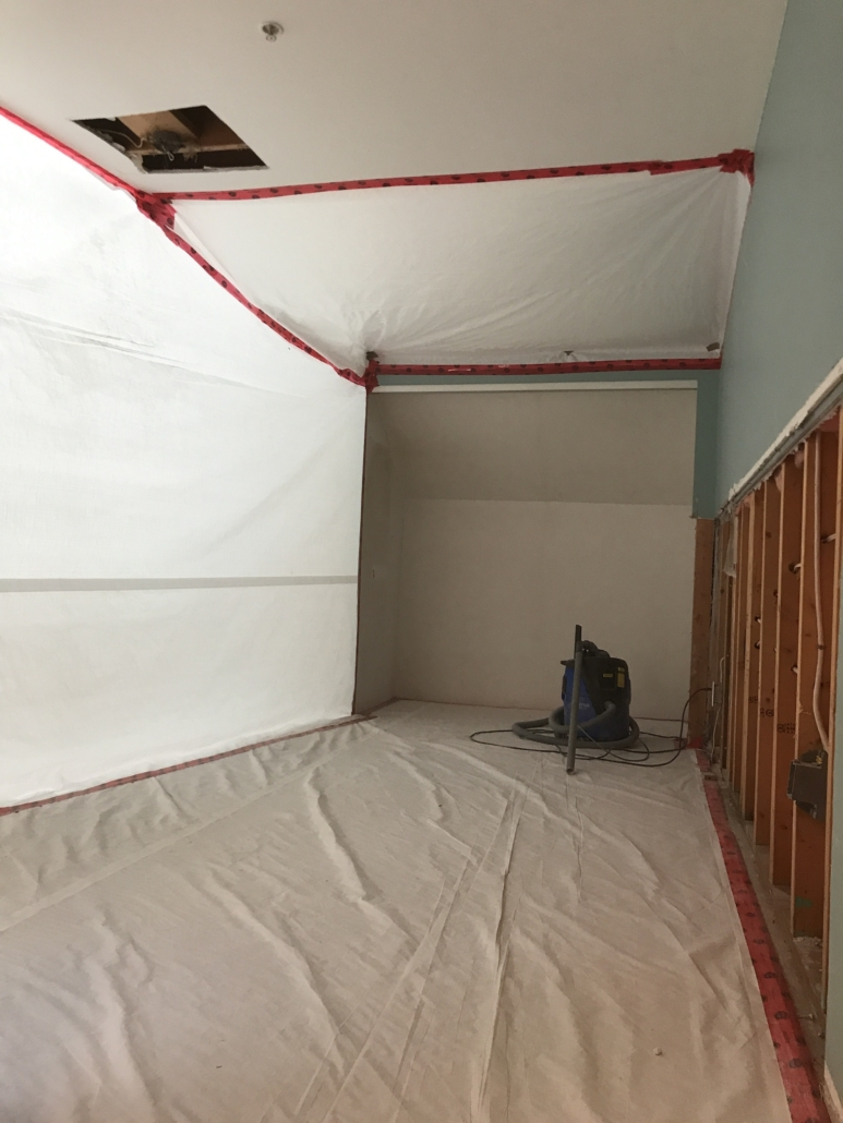High Risk Asbestos Abatement progressive environmental room
