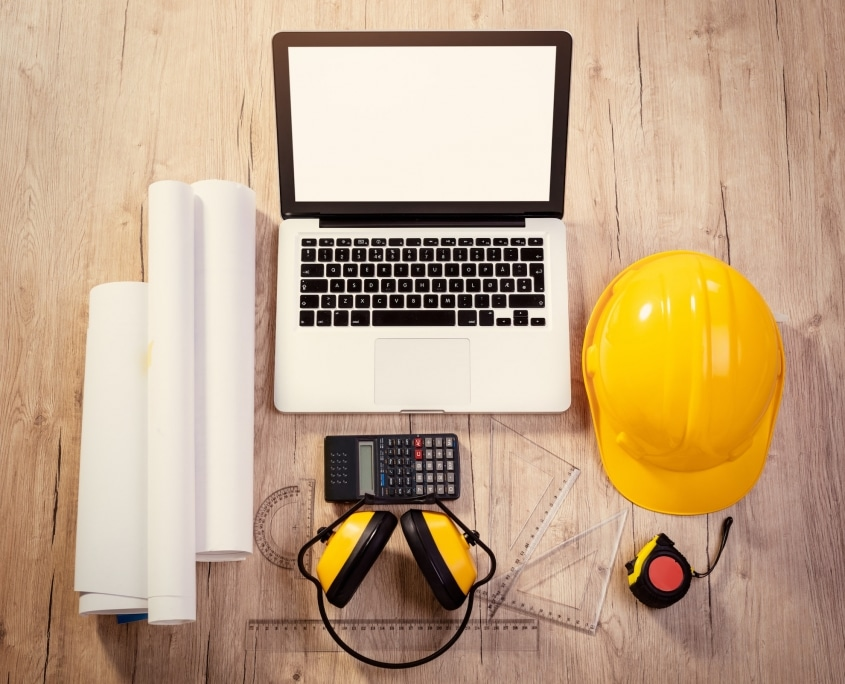 Asbestos abatement preparation with modern and traditional tools