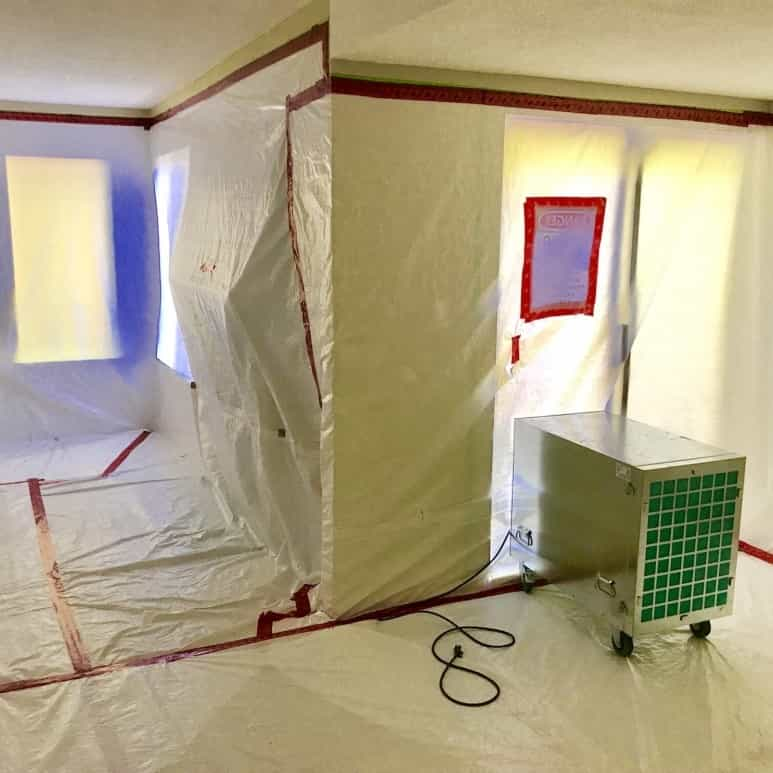 High risk asbestos abatement by Progressive Environmental