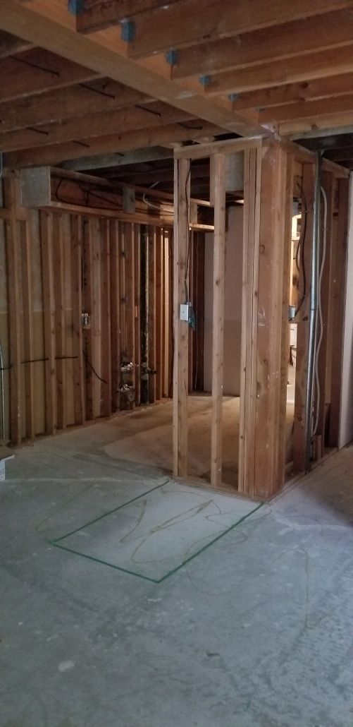 Kitsilano kitchen with completed asbestos abatement